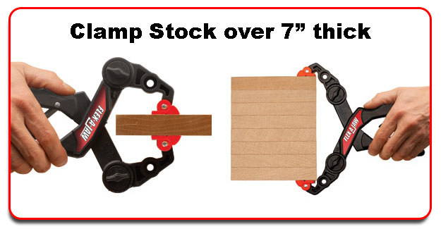 "Clamp Stock from 0"" to 7-5/8"" thick"